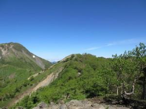前白根山(中央のピーク)