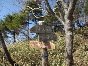 女峰山への道は残雪多いので赤薙山へ