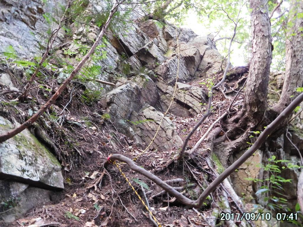 難易度が高い岩場