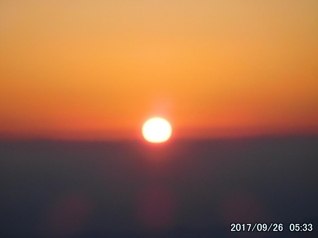 見事な日の出