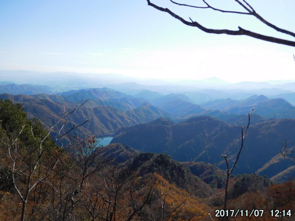 標高1230メートルから眺める関東平野
