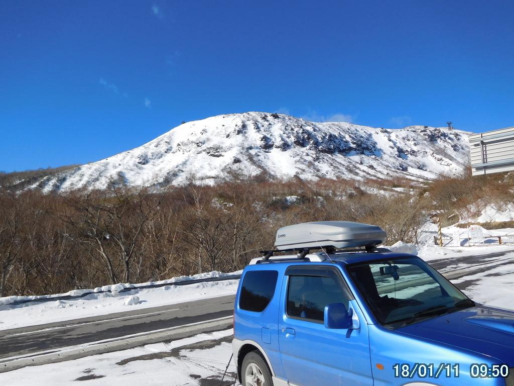 茶臼岳(那須岳)。茶臼名物の強風に気力が萎えたが遭難覚悟で登ってみた。