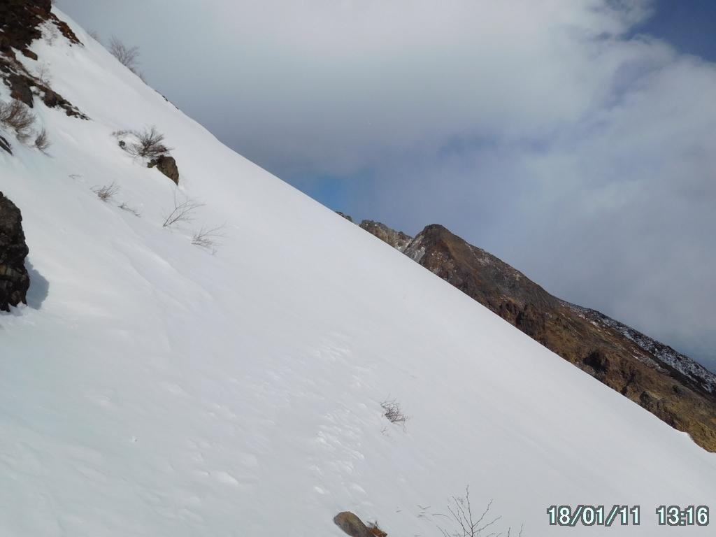 朝日岳へのトラバース道