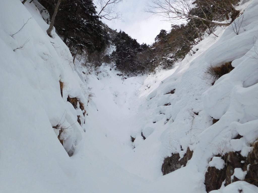 第三の滝は雪に覆われて見えなかった