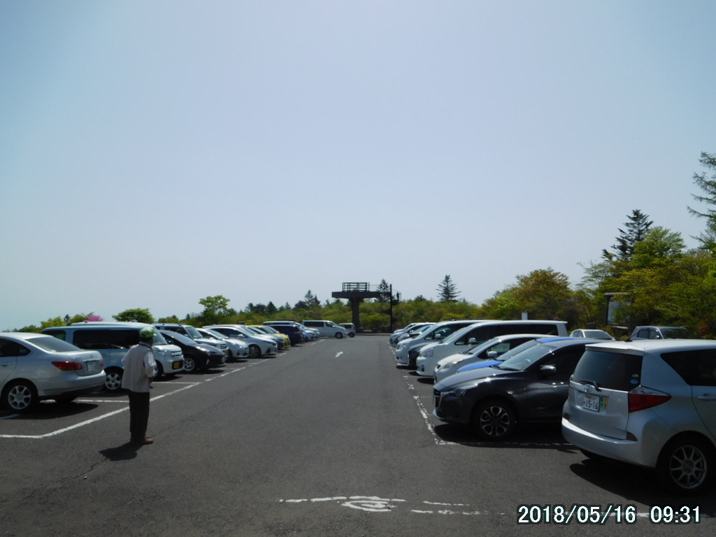 大間々台の駐車場