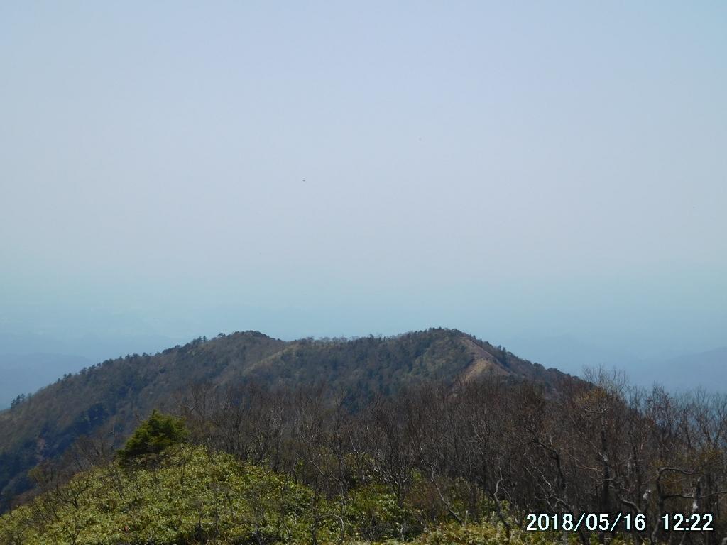 中岳と西平岳