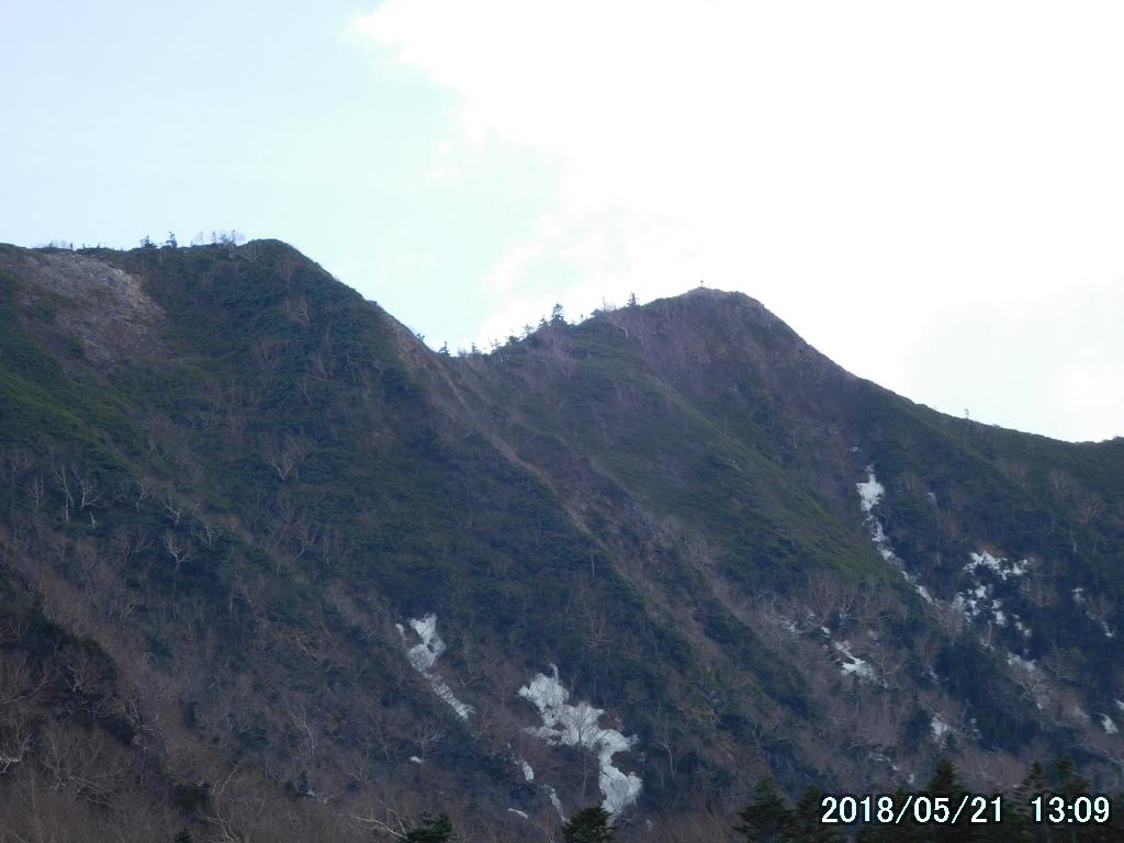 女峰山を振り返る