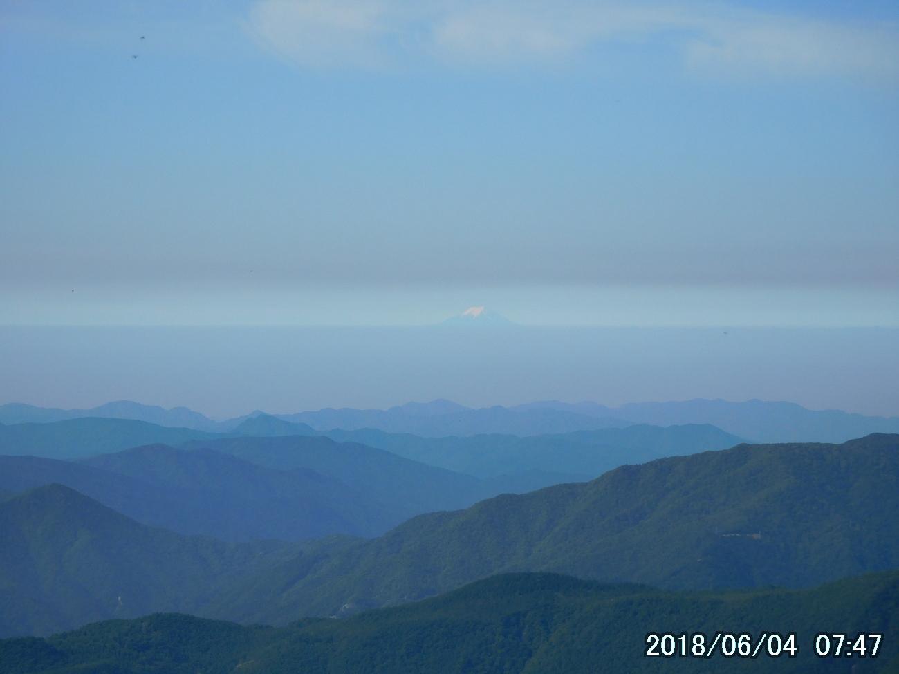 ここからも富士山が見える