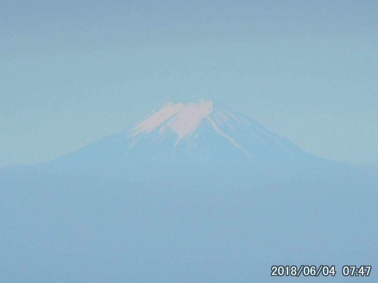 富士山をズームで