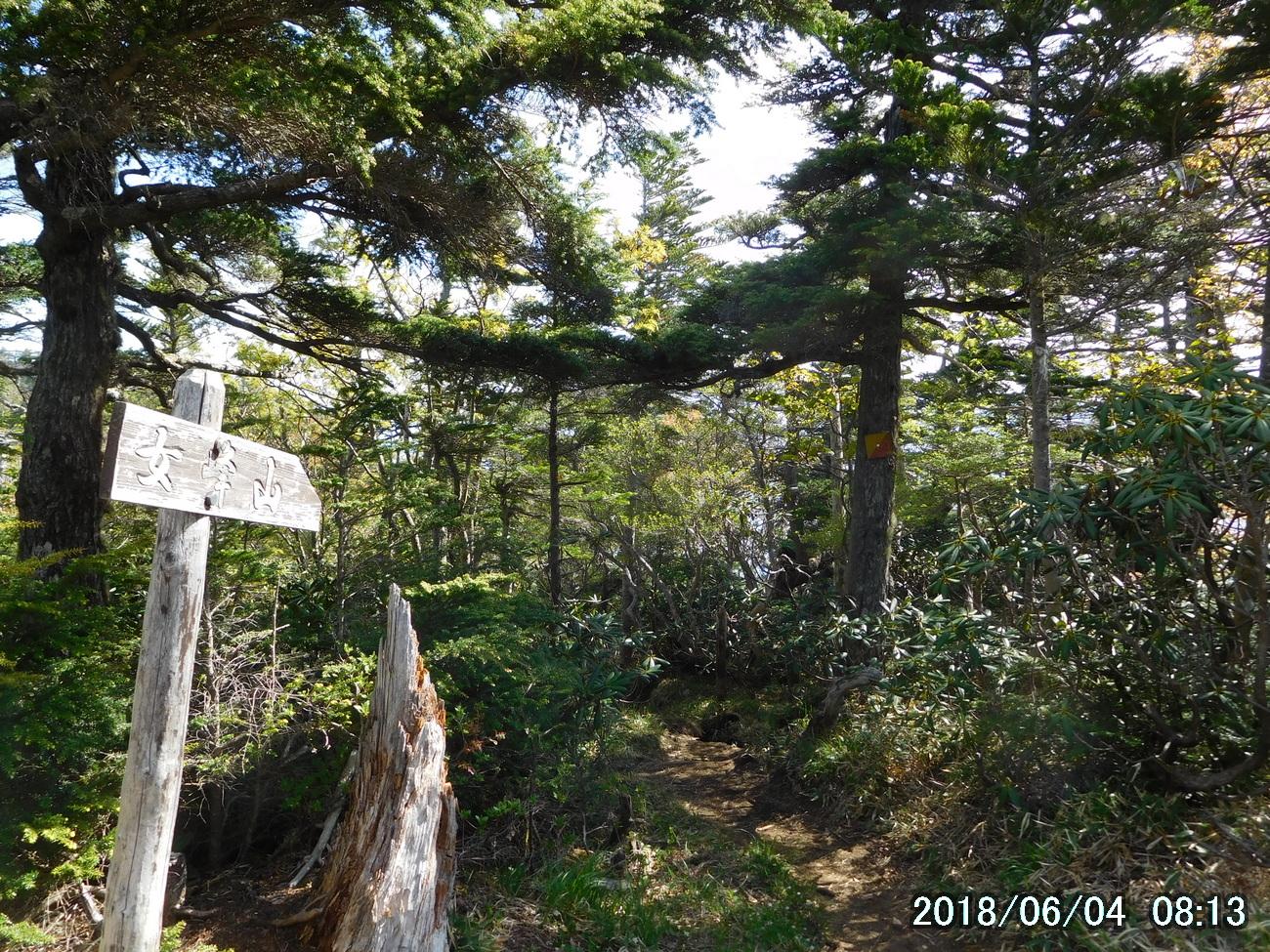 奥社跡から女峰山へ