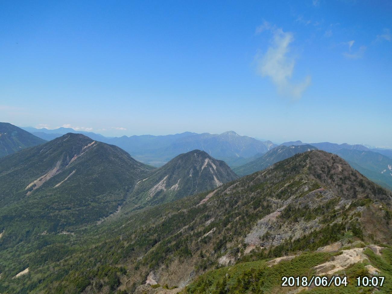 女峰山から日光連山を眺める