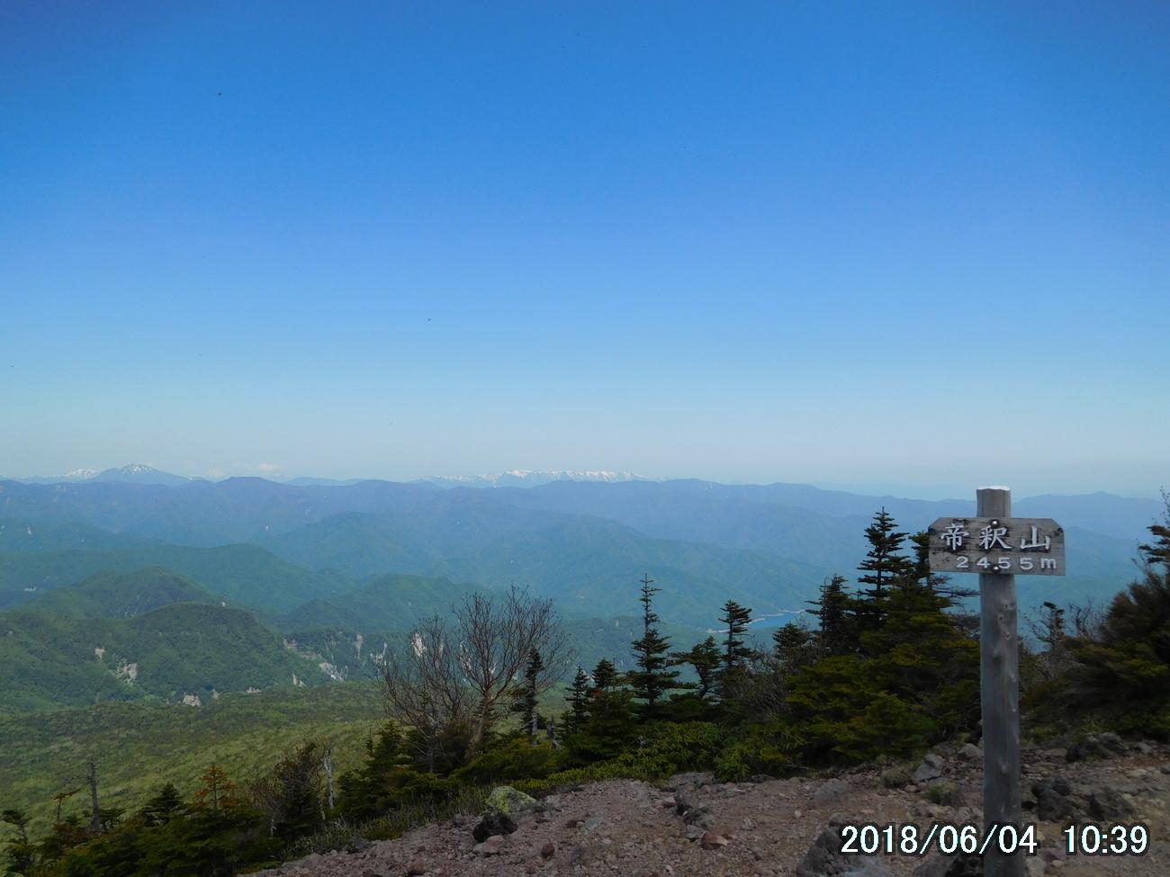帝釈山からの素晴らしい眺め