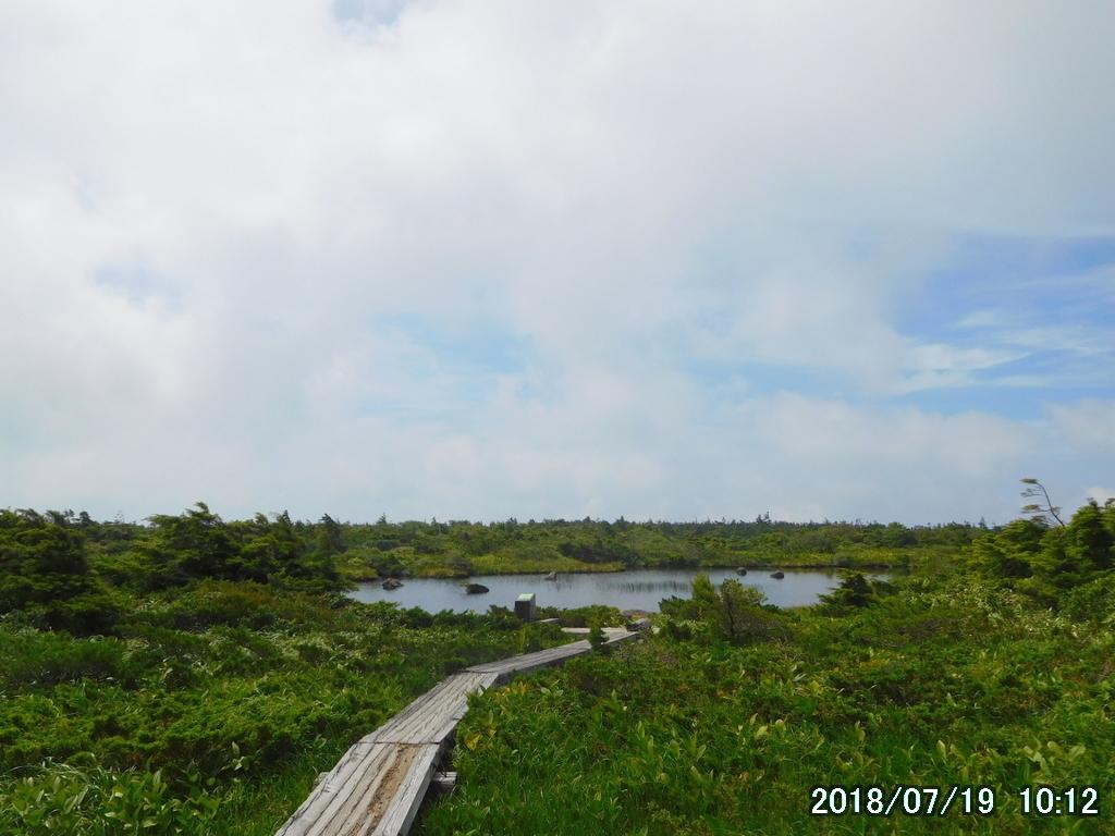 景場平の大きな池塘