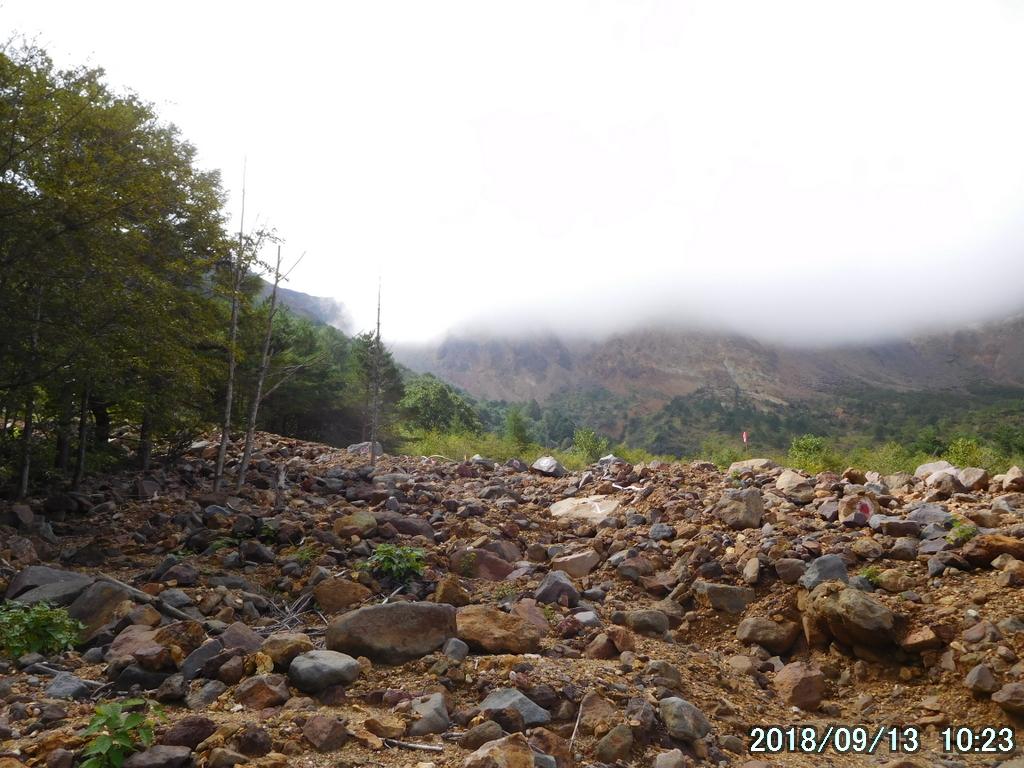 噴火口は300メートルはある