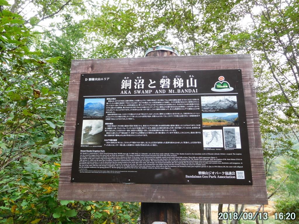 銅沼の説明板
