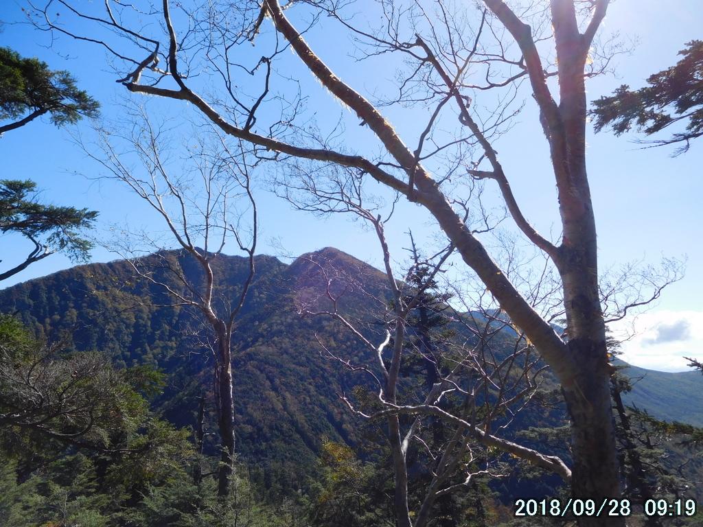 小太郎山(中央)と太郎山(少し左)