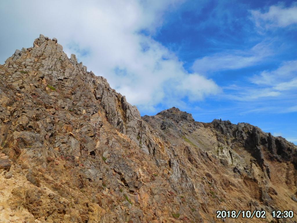 朝日岳への道