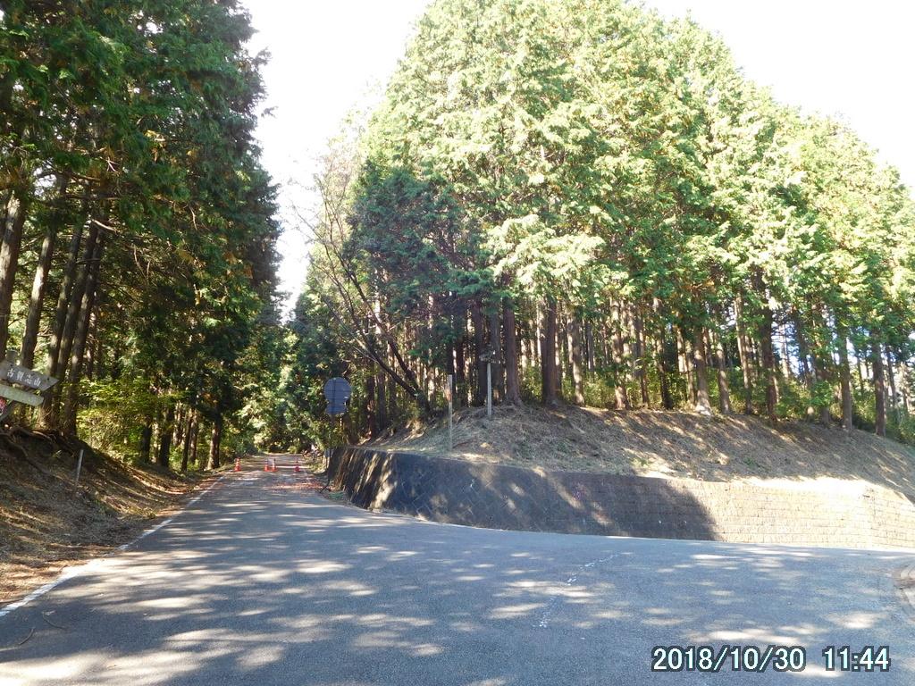 林道の三叉路