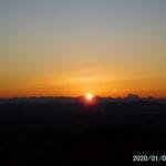 古賀志山で御来光。その後、新年初歩きで鞍掛山へ。